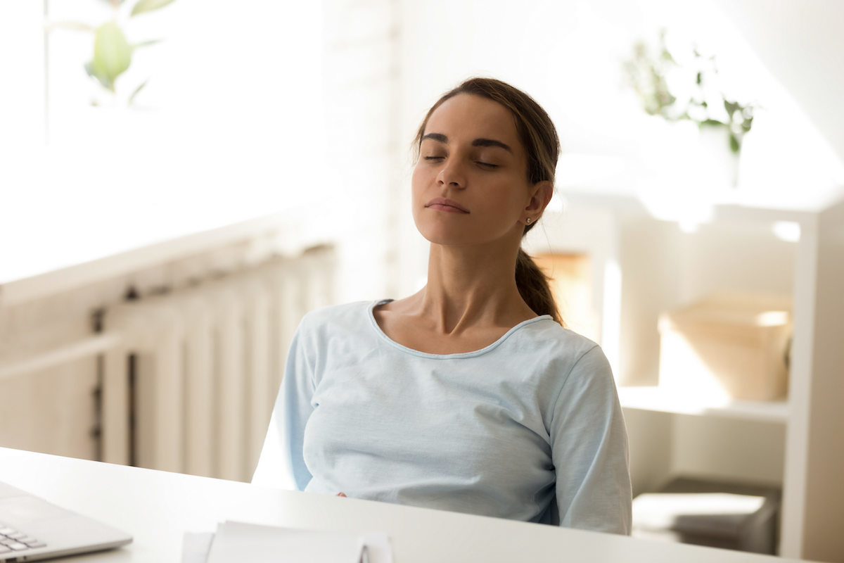 Small business owners can destress with a deep breath